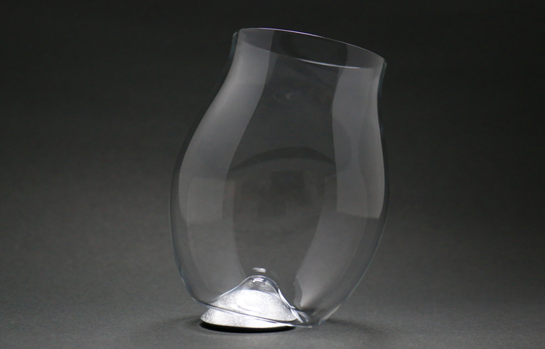 四津川製作所 喜泉 KISEN Wine glass AROWIRL Bordeaux_SILVER