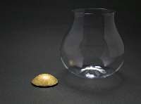 四津川製作所 喜泉 KISEN Wine glass AROWIRL Burgundy_GOLD